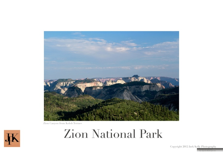 Zion National Park 13 x 19 poster 12
