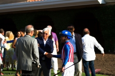 Legendary trainer Bob Baffert with jockey Gary Stevens.
